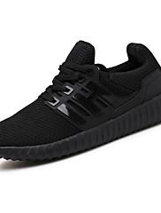 Da uomo scarpe da ginnastica Tulle Primavera Autunno Footing Più materiali Piatto Nero Grigio 5 - 7 cm