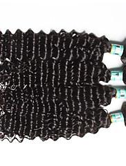 人間の髪編む インディアンヘア ウェーブ 18ヶ月 4個 ヘア織り
