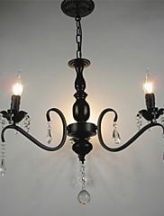 Křišťálový lustr evropský styl kované železo obývací pokoj lampa tvůrčí osobnost ložnice restaurace svíčky a lucerny