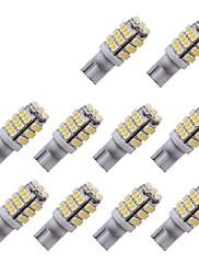 10pcs t10 3014 42smd w5w 42led leitura luz indicador lâmpada carro automotivo levou placa luzes dc12v