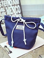 Ženy Bucket tašky Kanvas Celý rok Ležérní Soudek Magnet Vodní modrá Rubínově červená Zelená