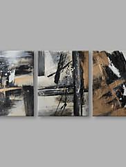 Hånd-malede Abstrakt Horisontal,Kunstnerisk Tre Paneler Kanvas Hang-Painted Oliemaleri For Hjem Dekoration