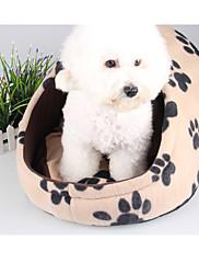 犬 ベッド ペット用 マット/パッド レオパード フットプリント/足 ピンク ヒョウ柄