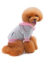 Hund Frakker Hundetøj Afslappet/Hverdag Solid Hvid Sort Grå