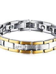 Herre Kæde & Lænkearmbånd Mode Klippe Gotisk Kvadratisk Zirconium Titanium Stål Rund form Smykker Til Fest Fødselsdag Daglig Aftenselskab