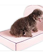 Cachorro Camas Animais de Estimação Delineadores Sólido Lavável Bege Rosa claro