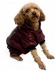 Pes Kabáty Oblečení pro psy Módní Jednolitý Černá Hnědá