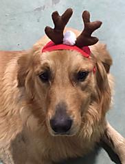 Hund Hår Tilbehør Hundetøj Jul Rensdyr Rød