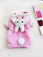 Pes mikiny Oblečení pro psy Zahřívací Zvíře Růžová
