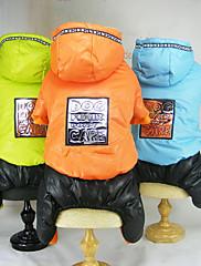犬 ジャンプスーツ 犬用ウェア カジュアル/普段着 文字&番号 オレンジ グリーン