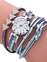 女性用 ファッションウォッチ ブレスレットウォッチ ダミー ダイアモンド 腕時計 中国 クォーツ 模造ダイヤモンド PU バンド ボヘミアンスタイル カジュアルスーツ エレガント腕時計 ブラック 白 ブルー オレンジ ピンク