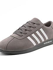 Masculino sapatos Camurça Primavera Outono Conforto Tênis Corrida Cadarço Para Atlético Casual Preto Cinzento Khaki