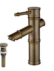 クラシック風 デッキマウント 温度調節可 with  セラミックバルブ 一つ for  オイルブロンズ , バスルームのシンクの蛇口
