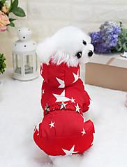 Cachorro Casacos Roupas para Cães Casual Pontos Fúcsia Vermelho Azul