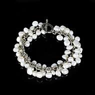 chic dam pärla sträng armband i silver-legering