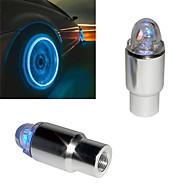 Super zářivé modré blikající LED světlo na kola u auta (sada 2 ks)
