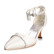 Belles chaussures de mariée ornées de strass avec brides