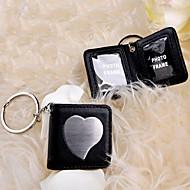 trousseau de clés en cuir noir tremble cadre photo /