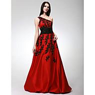 Prom / Formal Evening / Sweet 16 Dress - Plus Size / Petite A-line / Princess One Shoulder Floor-length Satin