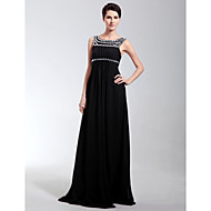 TS Couture® Formal Evening / Military Ball Dress - Open Back Plus Size / Petite Sheath / Column Scoop Floor-length Chiffon with Crystal Detailing
