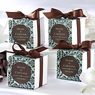 초콜릿 & 청록색 마스크 유리 상자 (12 세트)