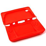 닌텐도 DSI 붙인다 / XL (빨간색)를위한 실리콘 보호 피부 / 케이스