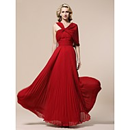 TS Couture® Prom / Military Ball / Formal Evening Dress - Ruby Plus Sizes / Petite Sheath/Column V-neck Floor-length Chiffon