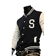 2011 Fashion Button Up Mens Jacket with White Long Sleeve Big S Pattern