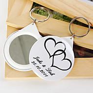 Plastik Keychain Favors-12 Stück / Set Schlüsselanhänger Garten Thema individualisiert Weiß / Schwarz