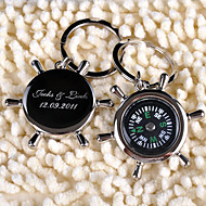 personlig nyckelring - kompass (set av 6)