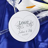 personliga glasunderlägg - ren kärlek (sats om 4)