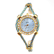 Women's Fashion Watch Bracelet Watch Wrist watch Quartz Alloy Band Blue Gold Brand
