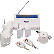 11 Wireless Guarding Zones GSM Alarm System With Color LCD Screen and Keyboard On the Host