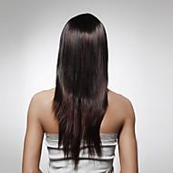 Capless Long 100% Human Hair Dark Brown Straight Hair Wig 5 Colors To Choose