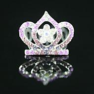 nydelig CZ Cubic Zirconia bryllup blomsterpike tiara flere tilgjengelige farger