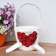 Blumenkorb mit Rosen-Herz-Blumenmädchen Korb