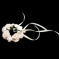 "Wedding Flowers Round Wrist Corsages Wedding / Party/ Evening Paper White 4.72""(Approx.12cm)"