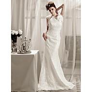 Trumpet/Mermaid Petite / Plus Sizes / Rectangle / Hourglass / Inverted Triangle / Misses / Pear Wedding Dress-Sweep/Brush Train Halter