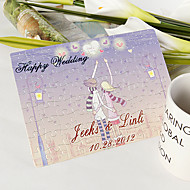 Personalized Jigsaw Puzzle - Lilac Heart Sky