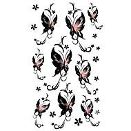5 piezas de mariposa tatuaje temporal a prueba de agua (17,5 cm * 10cm)