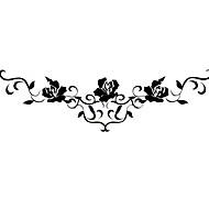 #(5) Tatouages Autocollants Séries de fleur Motif Bas du Dos ImperméableHomme Femelle Adolescent Tatouage TemporaireTatouages