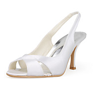 Women's Wedding Shoes Slingback Sandals Wedding Black/Pink/Red/Ivory/White/Silver/Gold