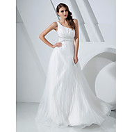 Prom/Military Ball/Formal Evening Dress - White Plus Sizes A-line/Princess One Shoulder Floor-length Organza