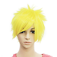 Capless Short Yellow Straight Synthetic Hair Wig
