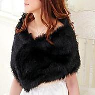 Adjustable Faux Fur Evening Shawl (More Colors)