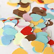 färgglada hjärta konfetti (påse med 350 stycken)
