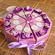 보라색 꽃 케이크 찬성 상자 (10 세트)