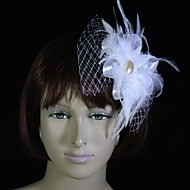 Beautiful Tulle And Feather Flower Girl Headpiece