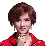 Mono Top Short Light Brown 100% Human Hair Wig