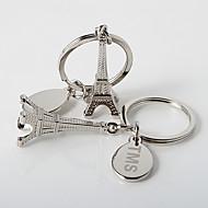 personlig La Tour Eiffel nyckelring (sats om 4)
